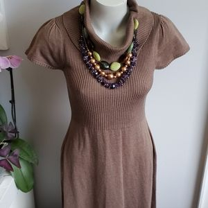 Calvin Klein knit dress, Oat colour, M